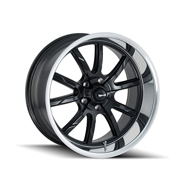 Ridler-650-Matte-BlackPolished-Lip-Wheel-with-Machined-Finish-15-x-7-inches-5-x-120-mm-0-mm-Offset