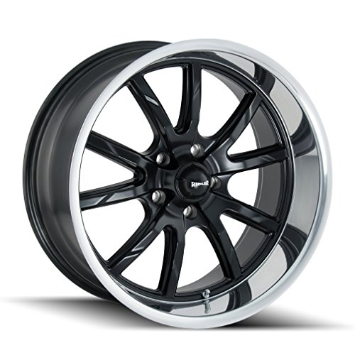 - Ridler 650 Matte Black/Polished Lip Wheel with Machined Finish (18 x 9.5 inches /5 x 120 mm, 0 mm Offset)