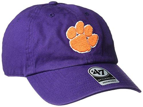 (NCAA Clemson Tigers '47 Brand Clean Up Adjustable Hat, Purple, One)