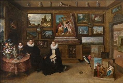 (Perfect effect Canvas ,the Amazing Art Decorative Prints on Canvas of oil painting 'The Collection of Paintings of Sebastian Leerse by Frans Francken II,first half of 17th century', 18x27 inch / 46x68 cm is best for Hallway gallery art and Home artwork and Gifts )