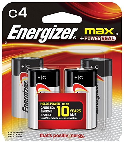 Energizer C-Cell (4 Count) - C Cell Pack Batteries 4
