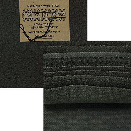 Primitive Gatherings Hand Dyed Wool Union Charm Pack 10 5-inch Squares PRI 6011 (Wool Fabric Dyed Hand)