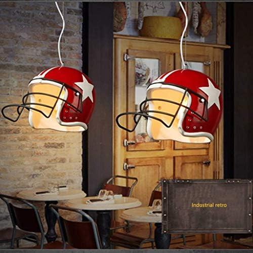mkj Licht Lampe E27 Pendelleuchte, Helm Lampenschirm Pendelleuchte Umweltschutz Kronleuchter Kinderzimmer Kindergarten Deckenleuchte Bar Beleuchtung,34X24CM