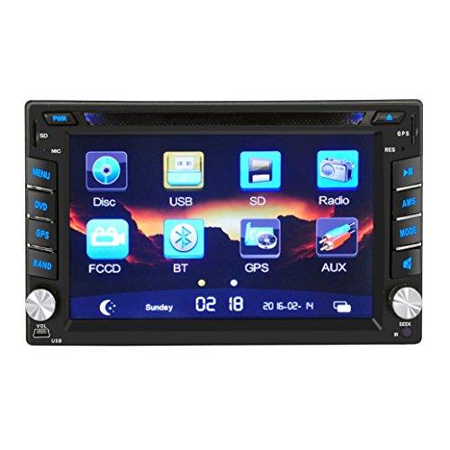 Boyiya GPS Navigation HD Double 2 DIN Car Stereo DVD Player Bluetooth Radio MP3 In Dash by Boyiya