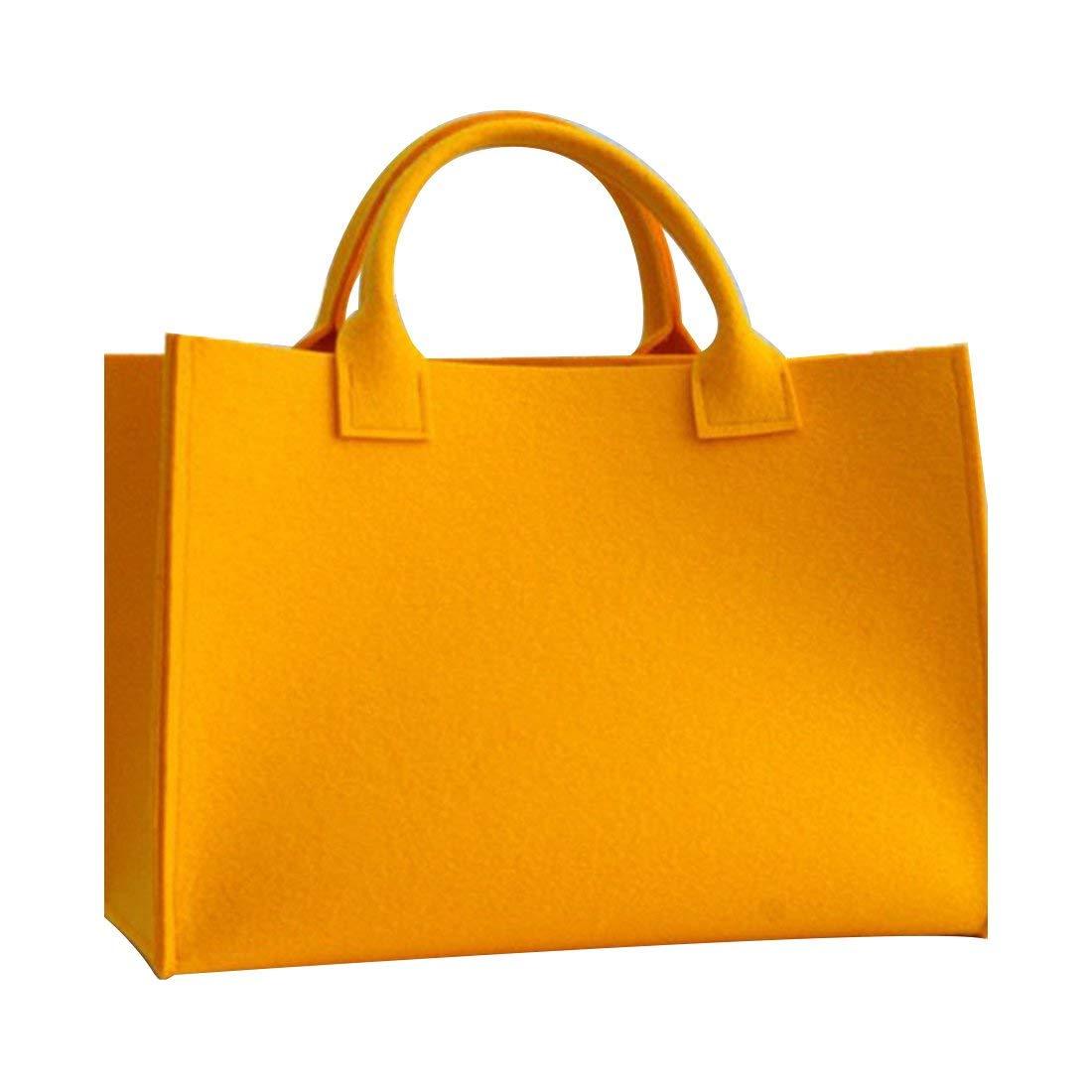 Gwell - Bolsa de la compra de fieltro, cesta de la compra, bolsa de almacenamiento, azul, 40x30x10cm