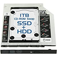 Skywin 1TB SSHD Laptop Optical Bay SWAP for Hard Drive - Replaces the CD-ROM or DVD-ROM of machine with 9.5mm drive bay. High Capacity and Performance SATA Drive Upgrade kit for Notebook