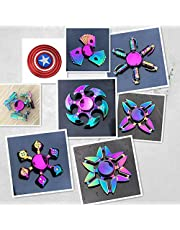 Fidget Spinner Metal Hand Spinner Focus Decompression Toy Stainless Steel Metal Fidget Toys Fingertip Gyro Stress Relief Cube Fun Toy Gifts for Kids and Adults (8PCS)
