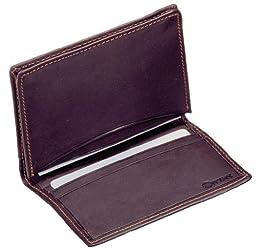 Winn Drum–Dyed Napa Leather Bi-Fold Credit/Business Card Case, Black