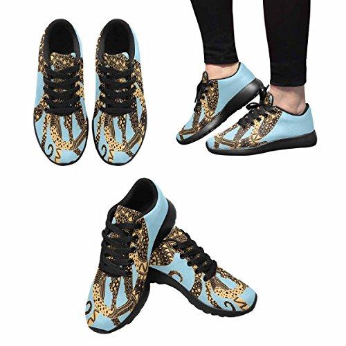 InterestPrint Womens Casual Soft Sports Road Running Walking Shoes Octopus Multi 1 zSu4PyN4W