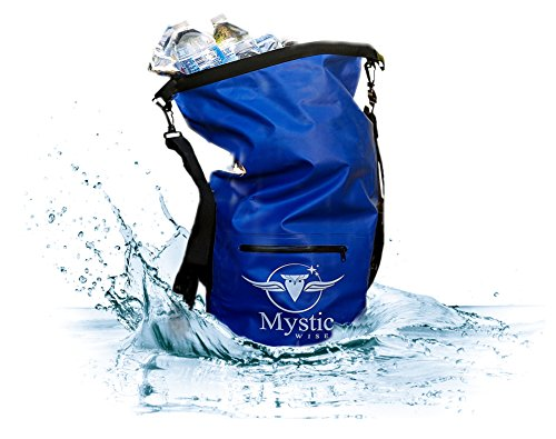 - Mystic Wise Waterproof Floating Backpack Dry Bag 20L - for Kayaking, Boating, Hiking, Rafting, and Fishing, and The Beach, Also Great for a Traveling Vacation Go Bag