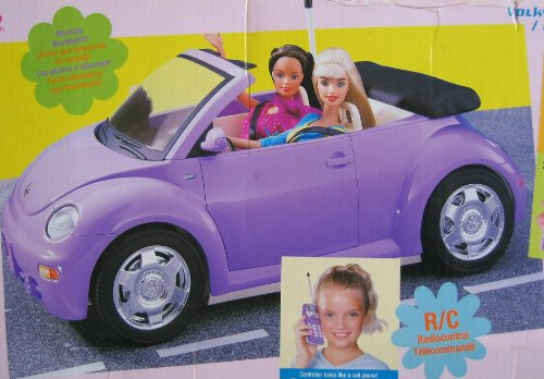 Amazon Com Barbie Radio Control Volkswagen New Beetle Convertible