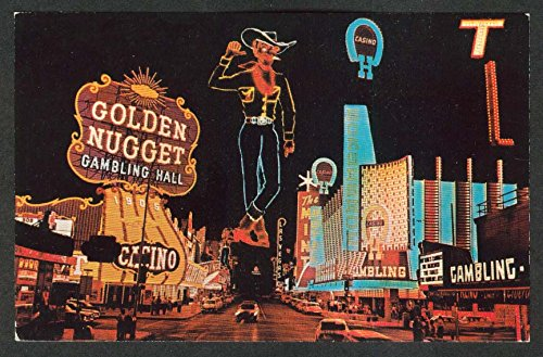 Golden Nugget Gambling Hall Casino Fremont St Las Vegas NV postcard 1950s
