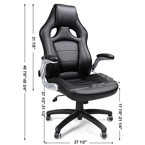 Awe Inspiring Songmics Pu Office Desk Chair Racing Sport Computer Chair Gmtry Best Dining Table And Chair Ideas Images Gmtryco