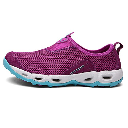Mesh Slip Breathable Womens Shoes on Non Shoes 5 Tekking in UK Slip Beach 2 Mountain Sizes Shoes 9 Water Shoes Mens 5 Outdoor Arcweg Purple Couple Hiking 50wPqI