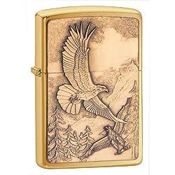 Zippo Eagle Pocket Lighter, Street Chrome