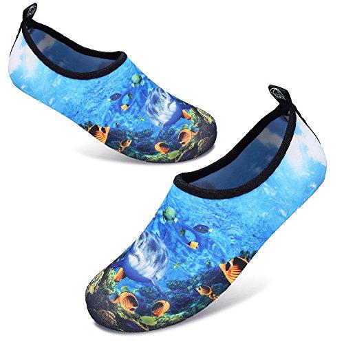 Aqua JOINFREE Shoe Quick Summer Footwear Dry Swim Men's Kid Women's Socks Yoga Water Shoes Barefoot Blue Shark rzxTw7vr