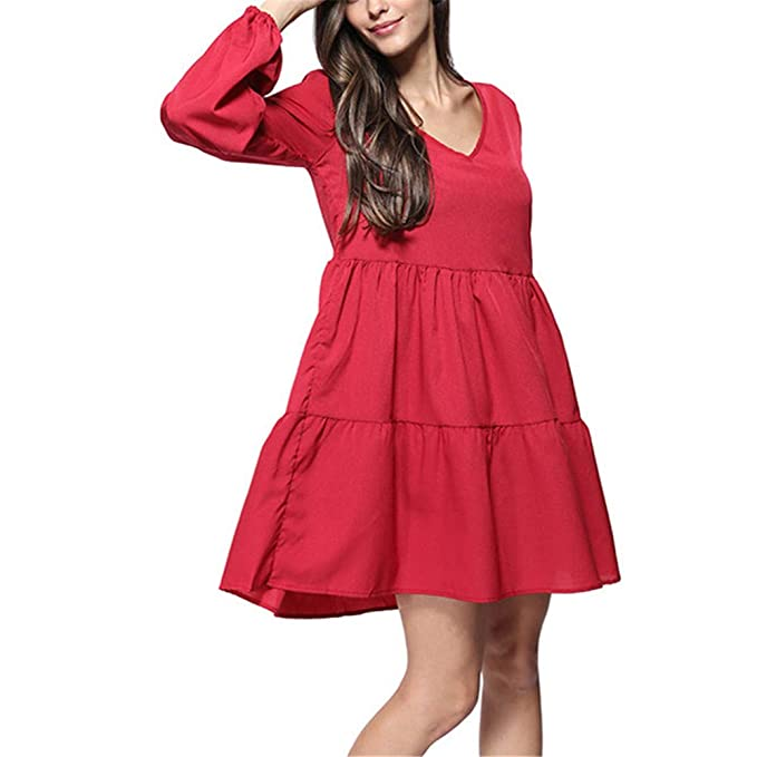 ZHJA 2019 Summer Womens New Large Size Womens Chiffon Dress ...
