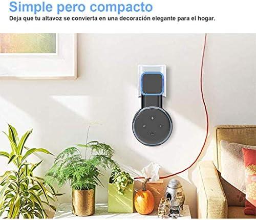 Echo Accesorios, Soporte para Estuche de Montaje en Pared Echo Dot Soporte Funda Protectora para Amazon Echo Dot (3ra generación) Accesorios Que ahorran Espacio para Altavoces domésticos sin Cables ni Tornillos (Negro) 9