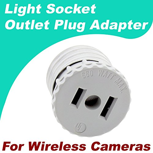 Crystal Vision Premium Light Socket Outlet Adapter for HD Wireless Camera Installation Compatible w/Crystal Vision, Funlux, XmartO, Reolink, Annke, Zosi, A-Zone, Smonet, Zmodo, and etc.