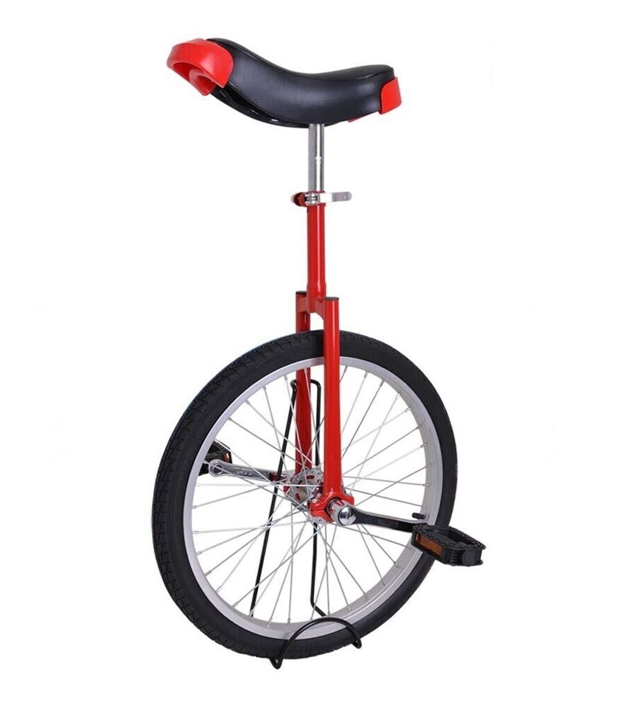AyaMastro Portable 20'' Wheel Unicycle Exercise Balance Cycling - Red with Ebook