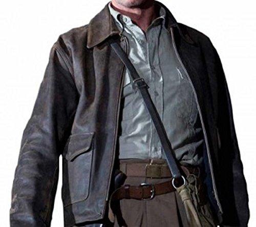 (Gemini seller Indiana Jones Movie Leather Jacket Sheep Leather (X Large) Black)