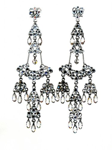 handelier Earrings In Clear Swarovski Crystal (Otazu Swarovski Crystal)