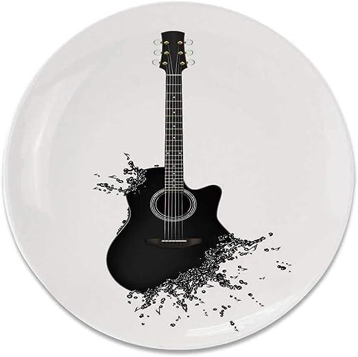 YOLIYANA - Placa Decorativa de cerámica Redonda para Guitarra ...