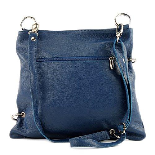 modamoda de - Made in Italy - Bolso cruzados para mujer azul vaquero