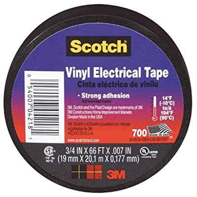 3M Scotch Vinyl Electrical Tape.75-Inch by .007-Inch by 66-Feet