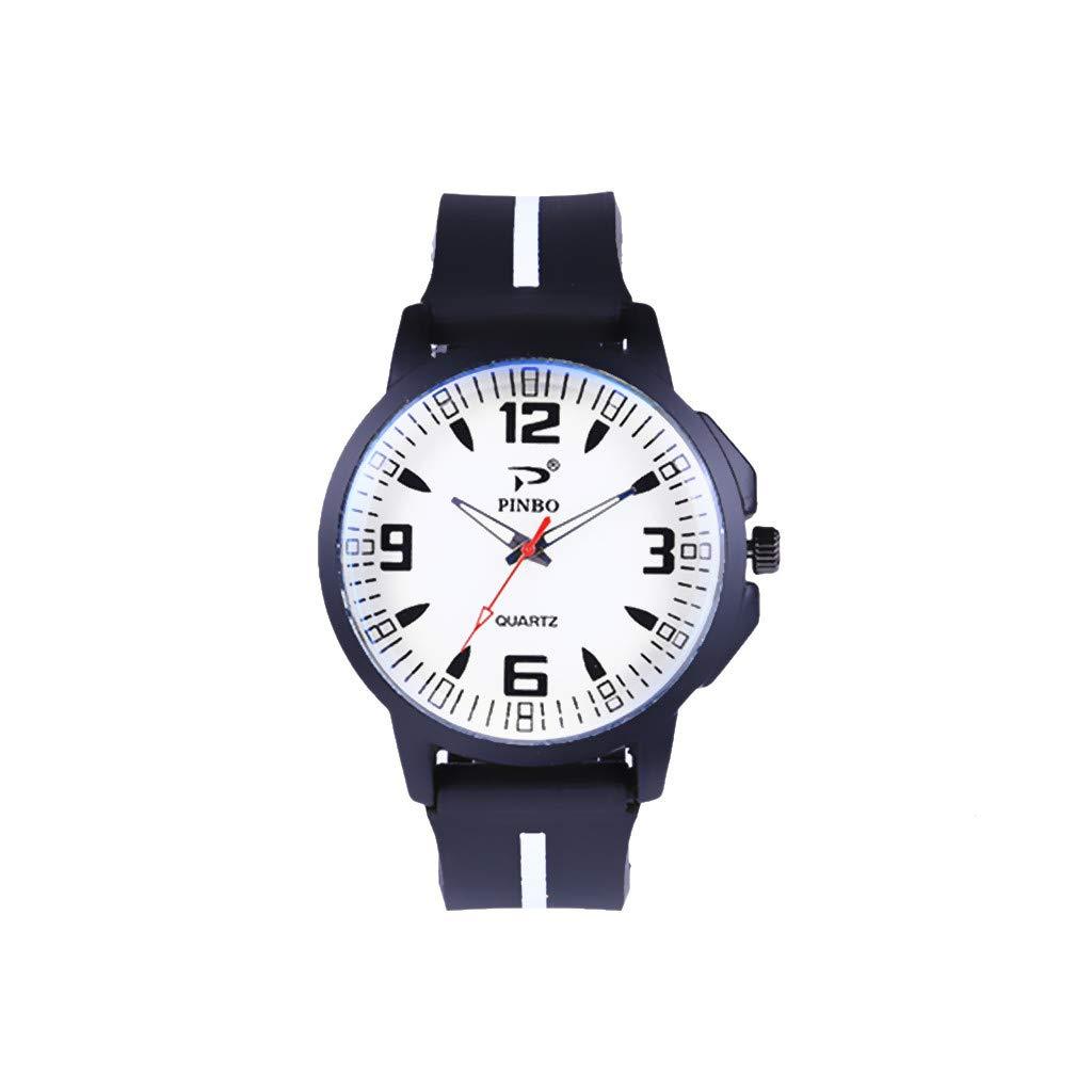 b4b98582c14e DAYLIN Reloj Deportivo Hombre Niño Relojes Juveniles para Chico Reloj  Pulsera de Cuarzo Silicona Sport Wrist Watch Men  Amazon.es  Relojes