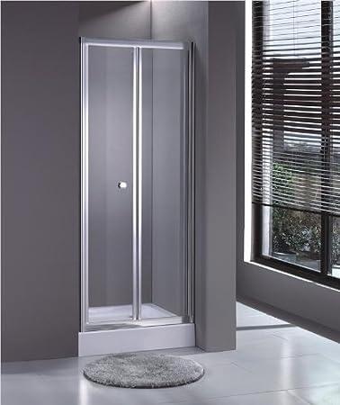 Aica Bathrooms - Mampara de ducha (doble puerta plegable, 700 mm ...
