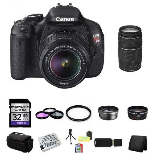 UPC 616932798962, Canon EOS Rebel T3i Digital SLR Camera with EF-S 18-55mm f/3.5-5.6 IS Lens & Canon 75-300 f/4-5.6 III Lens 32GB Green's Camera Package 8