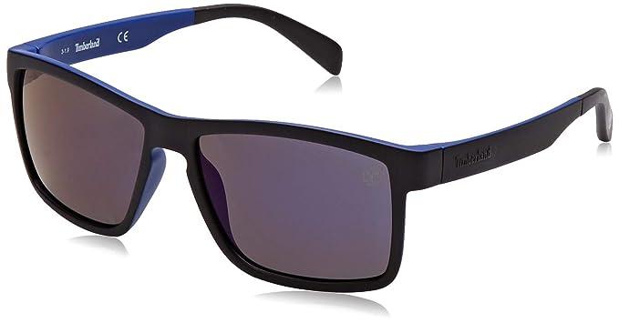 Timberland TB9081 Gafas de Sol, Azul (Matte Blue/Smoke ...