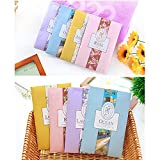YUMSUM 6 PCS Fresh Clothes Fragrant Scented Sachets Bags,Set with Hanger Suitable for Drawers and Closets Room Wardrobe Bathrooms Cars,16g