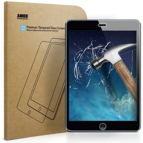 Anker iPad Mini / iPad Mini 2 / iPad Mini 3 Tempered Glass Screen Protector with Retina Display and Easy Installation (Not Compatible with iPad Mini - Apple Mini Ipad Screen Protector