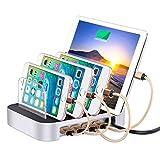 Sympath Detachable Multi-Port USB Charging Station 24W 4-Port USB Charging Dock (US)