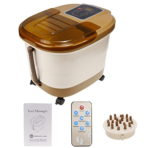Ultra Pedicure Foot Spa (Foot Spa Massager - Heated Bath, Automatic Massage Rollers, Vibration, Bubbles, Digital Adjustable Temperature Control)