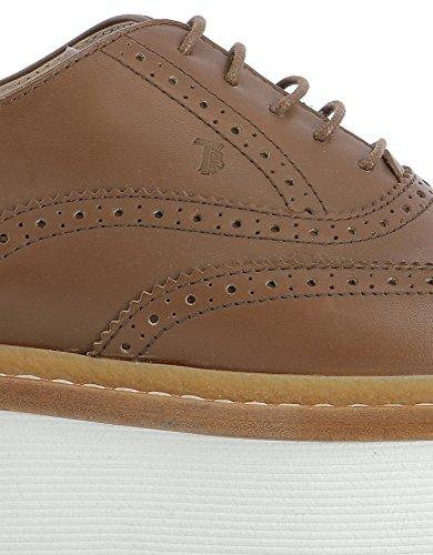 Zapatos Marrón De Mujer Cuero Cordones Tod's XXW25A0R840FRBS609 SE0qHIxxw