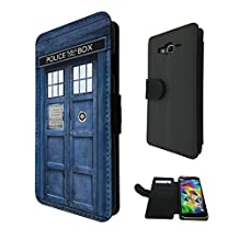 567 - Doctor Who Tardis Police Call Box Design Samsung Galaxy Grand Prime Fashion Trend Credit Card Holder Purse Wallet Book Style Tpu Leather Flip Pouch Case