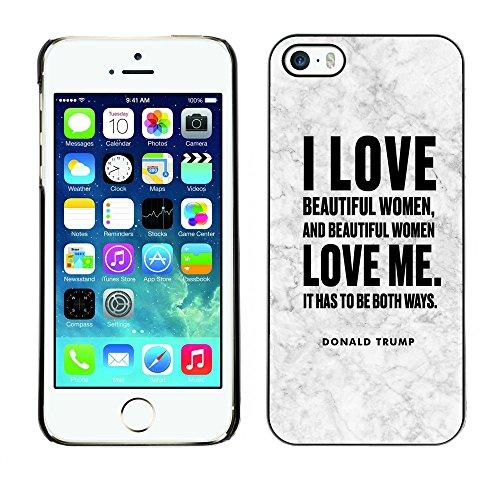 Print Motif Coque de protection Case Cover // Q04040563 Donald Trump marbre vieilli // Apple iPhone 5 5S 5G