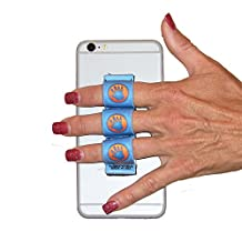 LAZY-HANDS 3-Loop Phone Grip - XL - BLUE HAND-IN-CIRCLE