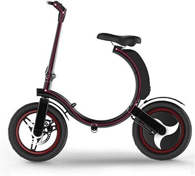 AISHFP Bicicleta eléctrica Plegable Inteligente, Bicicleta ...