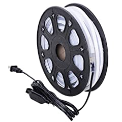 Features:- Easy to attach: flexible and cuttable light strip can be easily mounted on most surfaces- Low power consumption (8W/M, 0.07A/M): only one-tenth of the glass neon tube, environmental friendly- Adopts high quality waterproof light st...
