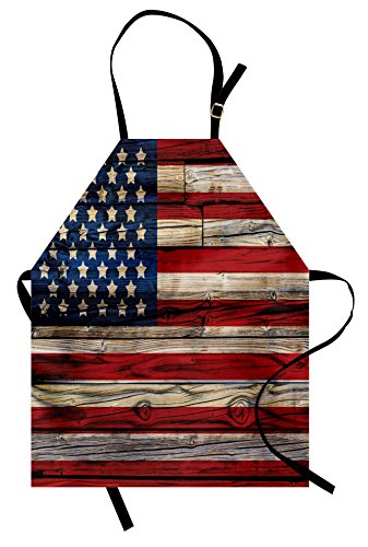 United States Costumes Ideas - Ambesonne 4th of July Apron, Wooden