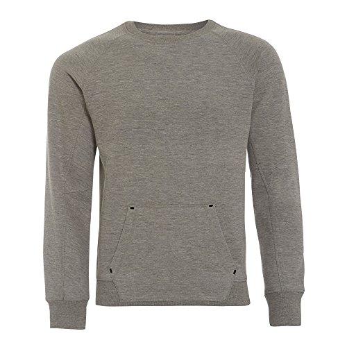Genetic Apparel - Camiseta de manga larga - Cuello redondo - para hombre gris