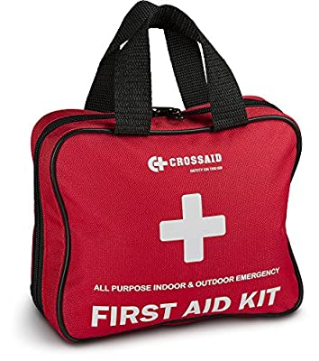 Crossaid 3-in-1 First Aid kit 160 piece + Bonus Airplane Traveling 46 Piece Kit and Survival Paracord Bracelet for Emergencies at Home, Office, car, Outdoors, Boat, Camping, Hiking