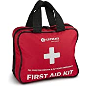 Emergency Survival First Aid Kit - 160 Pcs – Emergency Bag with Medical Supplies – for Car, Travel, Home, Camping, Daycare - BONUS Survival Gear + 46 pc Mini Traveling First Aid Kit