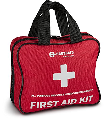 Crossaid 3-in-1 First Aid kit 160 piece + Bonus Airplane Traveling 46 Piece Kit and Survival Paracord Bracelet for Emergencies at Home, Office, car, Outdoors, Boat, Camping, Hiking (1 Dorm)