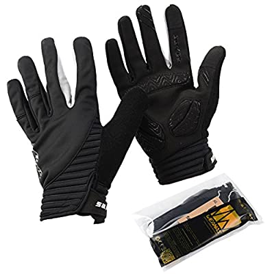 WEANAS Unisex Outdoor Gel Touchscreen Full Finger Cycling Gloves, Winter Cold Weather Bike Bicycle MTB DH Downhill Off Road Gloves