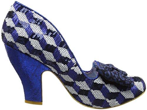 Time ChoiceNick Blue Blu Tacco Silver Scarpe of Irregular con Donna ZqFEwZd